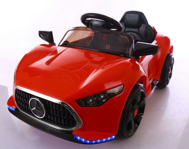 Big red children's toy electric car