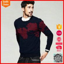 Neue Art lange Hülsen kundengebundene Männer Pullover intarsia