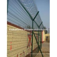 Stahlzaun / verzinkter Stahl-Schweißgitter-Zaun