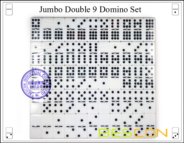 Jumbo Double 9 Domino Set-9