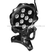 LED Underwater Light, 9W, 145*140mm, CE & RoHS Marks, 2-year Warranty