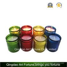Heißer Verkauf Glas gefüllte Kerze mit Duft