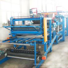 Cemento EPS utilizado línea de producción de paneles sándwich sándwich automático que hace la máquina