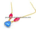 Стерлингового серебра цепи ожерелье халцедон ожерелье день рождения подарок для любовника