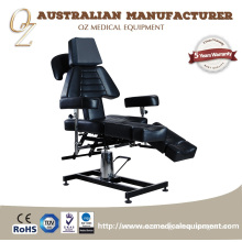 New Design Medical Massage Cough Multi-functional Hydraulic Black Color Tattoo Chairs Low Price Treatment Table