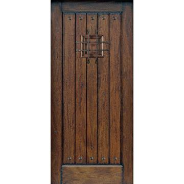 Distressed Speakeasy legno massello porta lastra