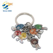 Porte-clés en métal personnalisé avec logo en émail