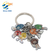 New Design Hot Selling Custom Promotional Logo Brand Custom Metal Keychain
