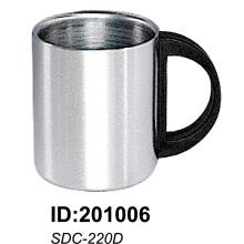 18/8 Tasse à double paroi en acier inoxydable de haute qualité Sdc-220d