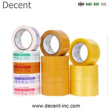 Dongguan Decent Clear Gum BOPP Bag Sealing Tape Stong Adhesive Power Carton Packing Tape Yellow