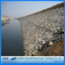 Green PVC Hexagonal Gabion Box for Flood