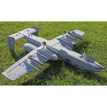 Avion électrique matériel de RC de mousse avec le moteur sans brosse 2 * 2100kv
