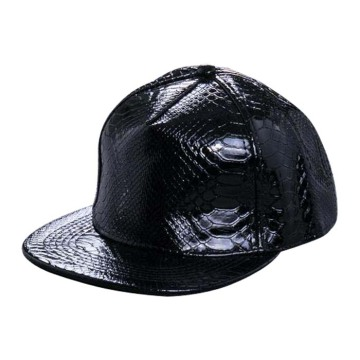 Blank Leather Hat Plain  Leather Hat Flat Bill Cap