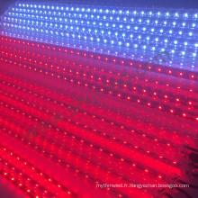 Bar club chute étoile dmx 3d rgb led météore lumière contrôle sonore vertical led tube