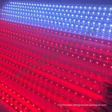 Bar club falling star dmx 3d rgb led meteor light sound control vertical led tube