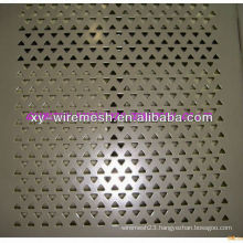 triangle shape galvanized perforated metal mesh