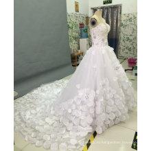Принцесса без бретелек свадебные платья с кристально горный хрусталь цветок