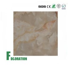 UV Coating PVC Decorative Board Artificial Marble