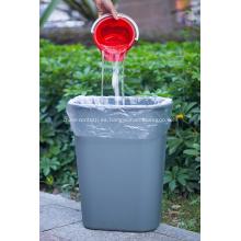 Bolsas de basura planas de plástico para el hogar en rollo
