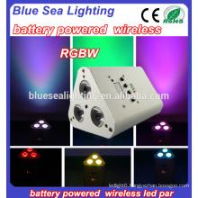 3pcs 10w 4in1 wireless led par light battery wireless