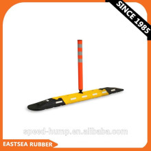 With Flexible Post Durable Rubber Road Lane Divider