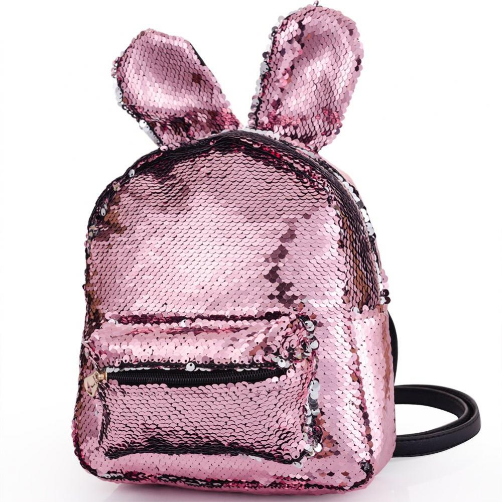 Rabbit Sequin Backpack 2