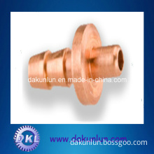 Customized Hollow Copper Shaft with Gear and Thread