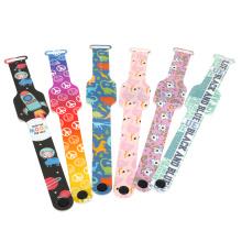 Wholesale Customzied Muticolor Printed Strap Rectangle Wristwatch Kids Digital LED Wrist Watch