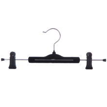 Black Velvet Flocked Pants Hanger with Clips