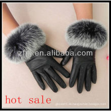 Frauen echtes luxuriöses Handschuhleder