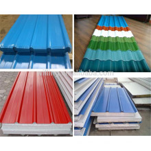 Elegant Colorful Trapezoidal Glazed Steel Wall Panel Stainless Sheets