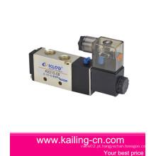 Válvula solenóide de 4 v / Válvula solenóide pneumática de duas vias de cinco vias / liga de alumínio