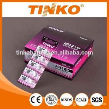 "LR44 AG13 ""TINKO"" Alkaline button battery 10pcs/card"