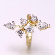 2018 diamantes dos tonos platean el precio de los anillos en Pakistán por mayor