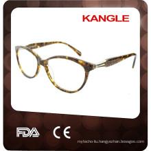 Beautiful Lady nice eyeshape acetate eyeglasses, new shape acetate optical frames for 2017