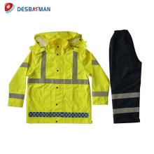 2017 nouvelle conception policière veste réfléchissante réfléchissante de sécurité Rainsuit
