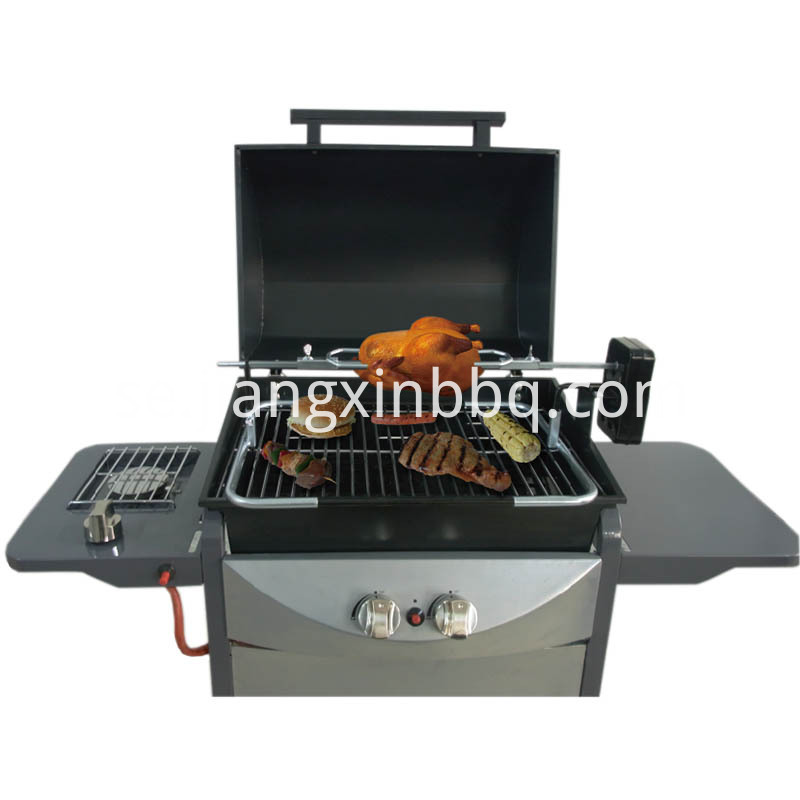 Universal Gas Barbecue Grill Rotisserie Kit Exposed View