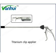 Instrumentos quirúrgicos Aplicador de clips de titanio reutilizable