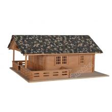 Hot New Products for Dollhouse Miniature Building 1/12 scale Lake house in wooden export to Netherlands Factory