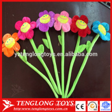 Cheap whole sale sunshine smile plush flowers in bulk sample free