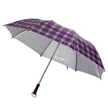 Outside Check Coated UV Protection Umbrella (JS-029)