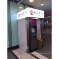 Banque ATM conduit boîte à lumière ATM stand couvert kiosque