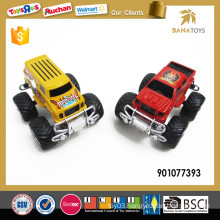 Plastic four wheel friction toy cars