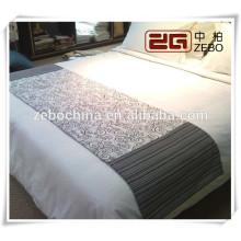 100% Polyester High Grade Jacquard Stoff Dekoration Hotel Bett Runner