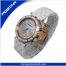 Attraktive runde Digitaluhr Charming Watch mit Steinen