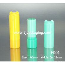 Cartoon Lip balm tube Child Cosmetic packaging recycled plastic lip balm tubes