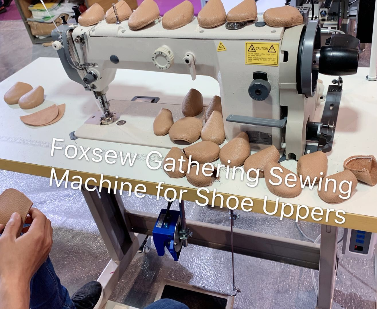 FOXSEW Gathering sewing machine for shoe uppers