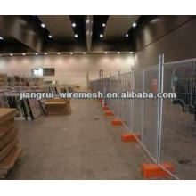 temporary fence stands concrete (Anping factory)