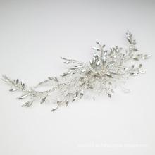 Nuevo diseño hecho a mano de cristal accesorios para el cabello pinza de pelo nupcial tocado de boda para niña