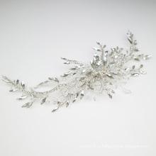 Новый дизайн аксессуары для волос с кристаллами ручной работы свадебные заколки для волос свадебный головной убор для девочки